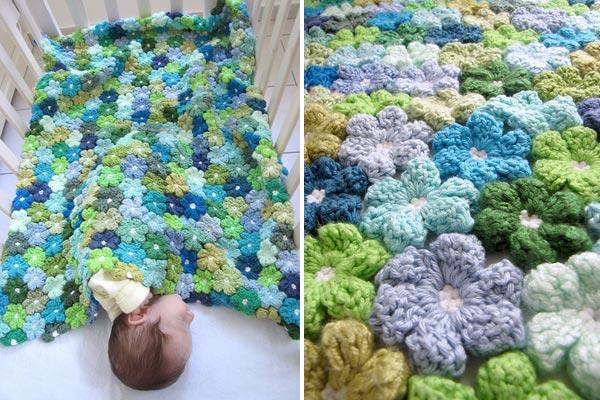 örgü bebek battaniyesi