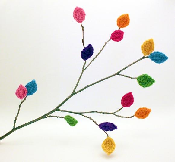 kuru dallar örgü dekor