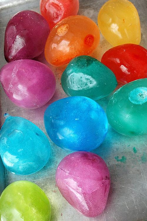renkli buzlar
