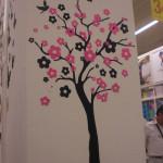 çiçekli duvar stickeri