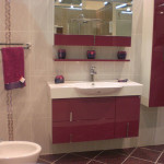 Leylak rengi hazır banyo