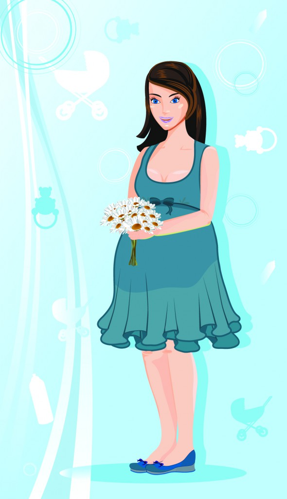 Шаблоны с беременными девушками