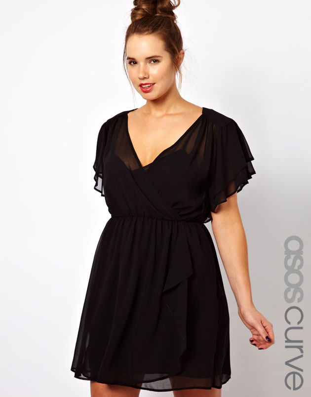 Фасоны коротких платьев для полных