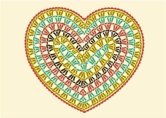 kalp örgü şema