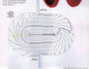 tığ işi patik modeli şeması2