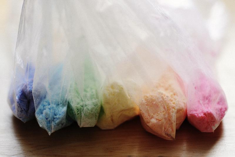 renkli pudra şekeri