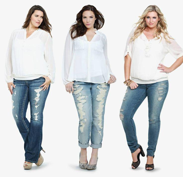 927c3f435ba40 Kilolu hanımlar nasıl jean seçmeli?