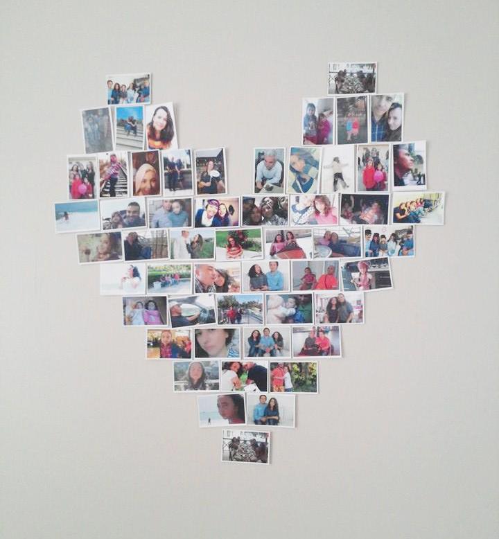 mini fotoğraflardan kalp