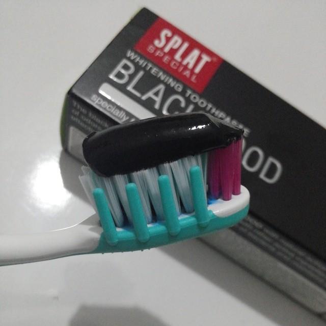splat siyah diş macunu