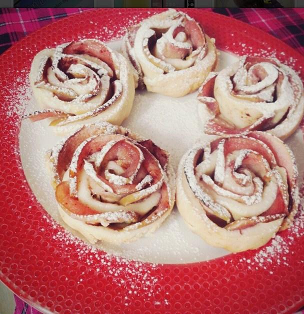 elmalı gül kurabiye