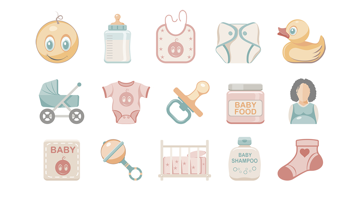 Flat Icons - Baby
