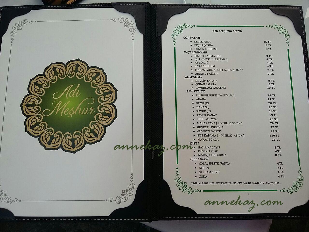 adi meshur menu1