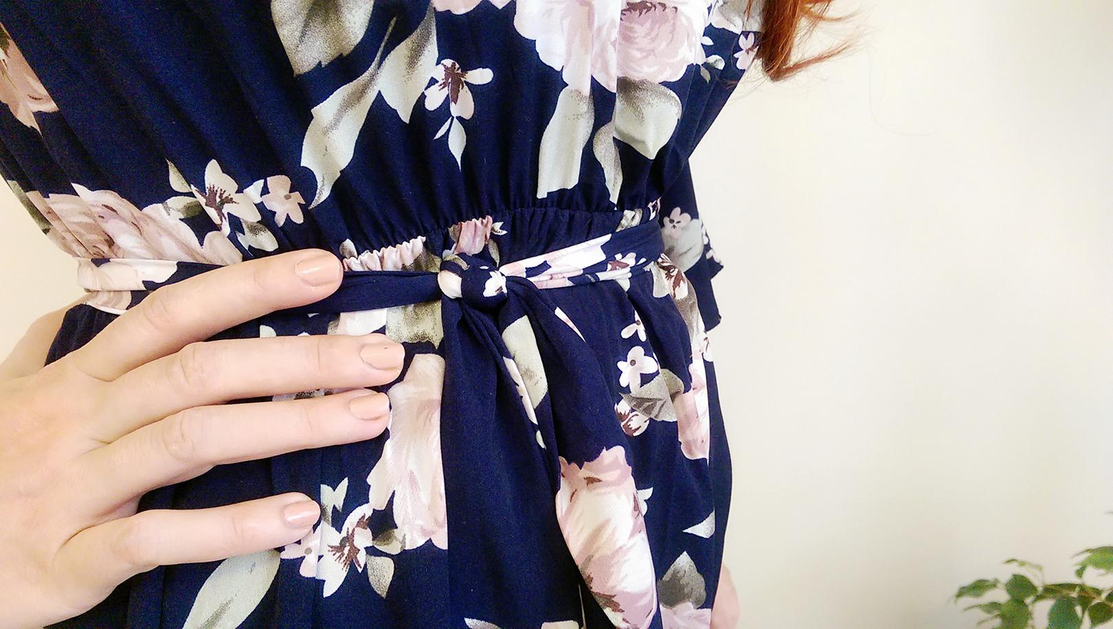 cicekli elbise annekaz